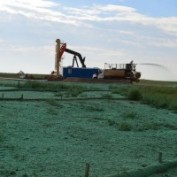 9 Inch Biodegradable Logs Straw Wattles and Hydroseeding Slope Protection Revegitation Reclamation North South Dakota
