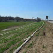 9 inch and 12 Inch Bio-Logs Biodegradible Curlex Straw Wattle Highway Project I-135 Wichita, Kansas Challenger Construction