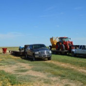 Equipment Staging for Seeding at Seaboard Foods near Gymon, OK