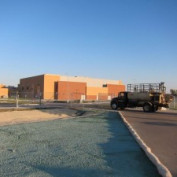 Erosion Control Blanket Bio-Logs and Hydroseeding at North East High School Wichita, Kansas Challenger Construction