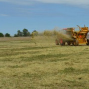 Hay Mulching Windfarm and Wind Turbine Access Roads, Landfill, Right of Way (ROW) Clearing and Seeding, Utility Tie In, Temporary Seeding, Erosion Control Services Challenger Construction