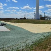 Hydroseeding Remediation Reclamation Slope Protection Straw Curlex Matting Blanket Erosion Prevention Seeding Challenger Construction Hydroseeding Towanda Kansas High School Addition
